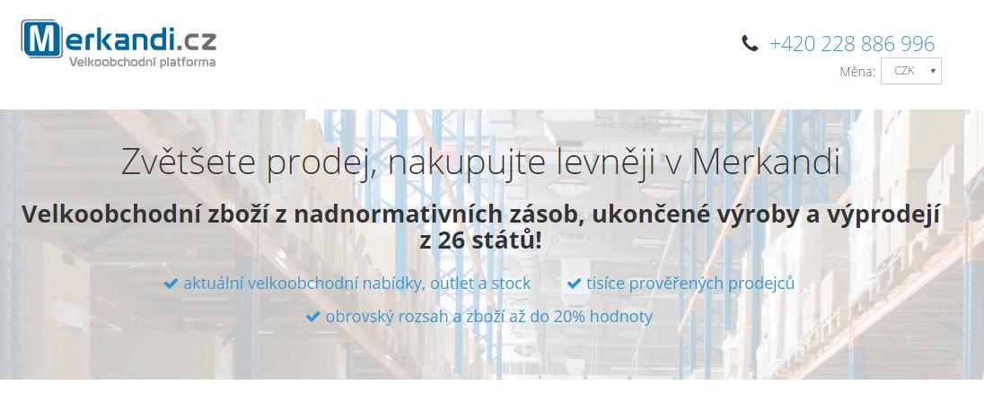 náhled na stránku registrace